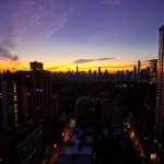 Good morning, NYC! Sunrise from 29th floor overlooking Central Park from Lincoln Center.